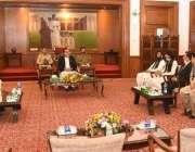 کراچی، گورنر سندھ عمران اسماعیل سے آل پاکستان گڈز ٹرانسپورٹ الائنس ..