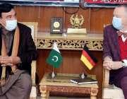 اسلام آباد، وزیر داخلہ شیخ رشید احمد سے جرمن سفیر ملاقات کر رہے ہیں۔