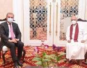 کولمبو، وزیر خارجہ شاہ محمود قریشی وزیراعظم کے دورہ سری لنکا کے موقع ..