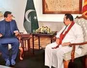 کولمبو، وزیراعظم عمران خان ٹیمپل ٹری میں سری لنکن ہم منصب مہنداراجاپاکسے ..