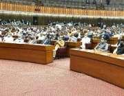 اسلام آباد، صدر مملکت ڈاکٹر عارف علوی پارلیمنٹ  کے مشترکہ اجلاس سے ..