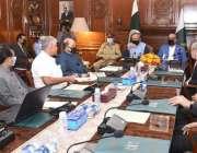 کراچی، صدر مملکت ڈاکٹر عارف علوی گورنر ہاؤس کراچی میں اعلی سطحی اجلاس ..