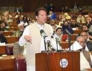اسلام آباد، وزیراعظم عمران خان قومی اسمبلی سے اعتماد کا ووٹ لینے کے ..