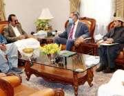کوئٹہ، گورنر بلوچستان امان اللہ خان یسین زئی سے انجینئر داروخان اچکزئی ..