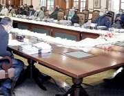 لاہور، وزیراعلی پنجاب سردارعثمان بزدار صوبائی کابینہ کے 40 ویں اجلاس ..