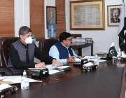 اسلام آباد، وفاقی وزیر قانون بیرسٹر فروغ نسیم ای سی ایل سے متعلق کابینہ ..