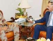 کوئٹہ، گورنر بلوچستان امان اللہ خان یسین زئی سے آئی جی ایف سی نارتھ ..