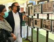 کراچی، گورنر سندھ عمران اسماعیل علامہ اقبال کی 83ویں برسی کے موقع پر ..