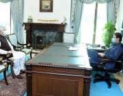اسلام آباد، وزیراعظم عمران خان سے وزیراعلی خیبرپختونخوا محمود خان ..