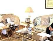 لاہور، سپیکر پنجاب اسمبلی چوہدری پرویز الہی سے ملاقات کے دوران صوبائی ..