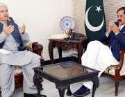 پشاور، وزیراعلی خیبرپختونخوا محمود خان سپیکر صوبائی اسمبلی مشتاق ..