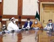 لاہور، صوبائی وزیر صحت ڈاکٹر یاسمین راشد سول سیکرٹریٹ میں کابینہ کمیٹی ..