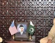 راولپنڈی، آرمی چیف جنرل قمر جاوید باجوہ سے امریکی چارج ڈی اُمور انجیلا ..