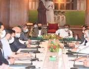 کراچی، گورنر سندھ عمران اسماعیل گورنر ہاؤس میں وفاقی وزیر علی حیدر ..