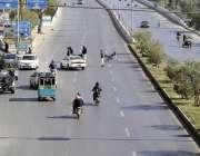 کراچی، نیپا چورنگی جانے والا راستہ مچھ کے مظاہرین کے دھرنے کے باعث ..
