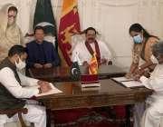 کولمبو، وزیراعظم عمران خان اور سری لنکن ہم منصب مہنداراجاپاکسے مختلف ..