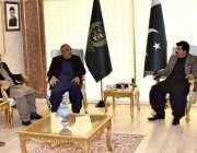 اسلام آباد، چئیرمین سینیٹ محمد صادق سنجرانی سے سپیکر قومی اسمبلی اسد ..