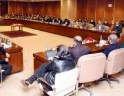 اسلام آباد، وزیراعظم عمران خان پارلیمانی پارٹی اجلاس کی صدارت کر رہے ..