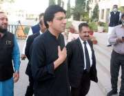 کراچی، سندھ اسمبلی میں تحریک انصاف کے رہنما و سینیٹ اُمیدوار فیصل واوڈا ..