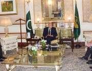 لاہور، گورنر پنجاب چوہدری محمد سرور سے تحریک انصاف کا وفد گورنر ہاؤس ..