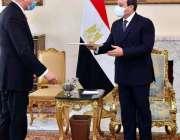 قاہرہ، مصری صدر عبدالفتح السیسی سے وزیر خارجہ شاہ محمود قریشی ملاقات ..