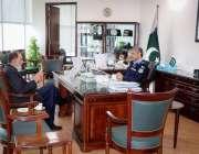 اسلام آباد، چئیرمین قائمہ کمیٹی کابینہ سیکرٹریٹ سینیٹر محمد طلحہ آئی ..