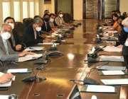 اسلام آباد، وفاقی وزیر خزانہ عبدالحفیظ شیخ نیشنل پرائس مانیٹرنگ کمیٹی ..