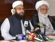 لاہور، وزیراعظم کے نمائندہ خصوصی حافظ طاہر محمود اشرفی پریس کانفرنس ..
