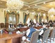 اسلام آباد، وزیراعظم عمران خان وفاقی کابینہ کے اجلاس کی صدارت کر رہے ..