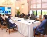 اسلام آباد، وزیراعظم عمران خان 10 ویں ڈی 8 ورچول سمٹ میں شریک ہیں۔