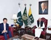 اسلام آباد، صدر آزاد کشمیر سردار مسعود خان سے ترجمان وزارت خارجہ زاہد ..