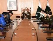 راولپنڈی، آرمی چیف جنرل قمر جاوید باجوہ سے کے ٹو سر کرنے والے کوہ پیما ..