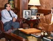 کراچی، گورنر سندھ عمران اسماعیل سے قطر کے سفیر شیخ سعود بن عبدالرحمان ..