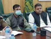 جہلم، وفاقی وزیر اطلاعات و نشریات فواد چوہدری ڈپٹی کمشنر آفس جہلم کے ..