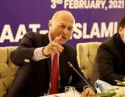 اسلام آباد، سینیٹ کی خارجہ اُمور کمیٹی کے چئیرمین سینیٹر مشاہد حسین ..
