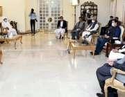 اسلام آباد، وزیراعظم عمران خان سے سے کاشتکاروں کا وفد ملاقات کر رہا ..