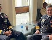 واشنگٹن، چیف آف نیول سٹاف ایڈمرل محمد امجد خان نیازی 24 ویں انٹرنیشنل ..