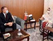 اسلام آباد، وفاقی وزیر دفاعی پیداوار زبیدہ جلال سے بیلاروس کے سفیر ..
