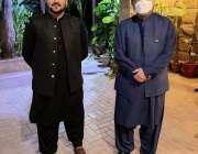 کراچی، سابق صدر آصف زرداری سے سردار یار محمد رند  کے صاحبزادے میر بیبرگ ..