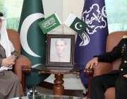 اسلام آباد، چیف آف نیول سٹاف ایڈمرل محمد امجد خان نیازی سے سعودی سفیر ..