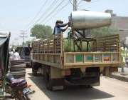 حیدرآباد، پاک فوج کی جانب سے مشین کے ذریعے کورونا وائرس سے بچاؤ کیلئے ..