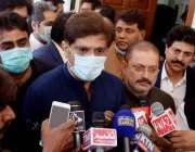 حیدرآباد، وزیراعلی سندھ مراد علی شاہ پی ڈی ایم جلسے کے حوالے سے میڈیا ..