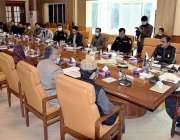 کوئٹہ، وزیراعلی بلوچستان جام کمال خان امن و امان کے حوالے سے منعقدہ ..