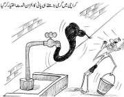 کراچی میں گرمی بڑھتے ہی پانی کا بحران شدت اختیار کر گیا۔ خبر