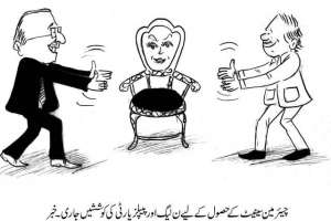 چیئرمین سینیٹ کے حصول کیلئے مسلم لیگ ن اور پیپلز پارٹی کی کوششیں جاری۔ ..