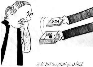 کیری لوگر بل سے پاکستان کو صرف 2 کروڑ ملے ۔ خبر