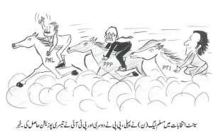 سینیٹ انتخابات میں مسلم لیگ ن نے پہلی، پی پی نے دوسری اور تحریک انصاف نے تیسری پوزیشن حاصل کی۔ خبر
