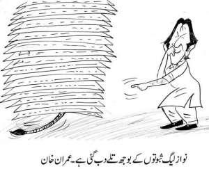 نواز لیگ ثبوتوں کے بوجھ تلے دب گئی ہے، عمران خان