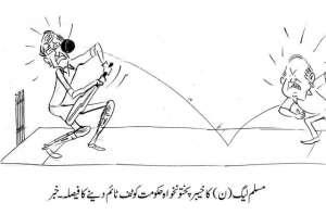 مسلم لیگ ن کا خیبرپختونخوا حکومت کو ٹف ٹائم دینے کا فیصلہ۔ خبر