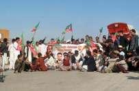 پشاور، تحریک انصاف کا نیٹو سپلائی کیخلاف مسلسل 65ویں روز دھرنا